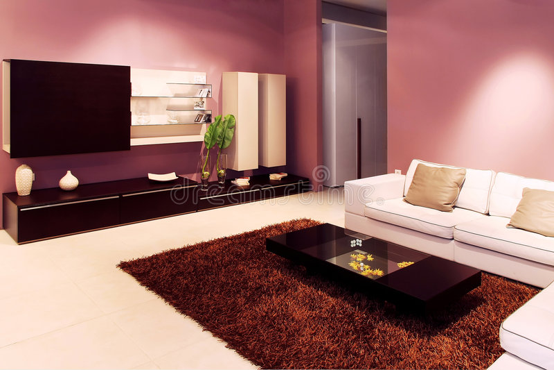 Download Purple Living Room Stock Image. Image Of Vase, Purple   8908521