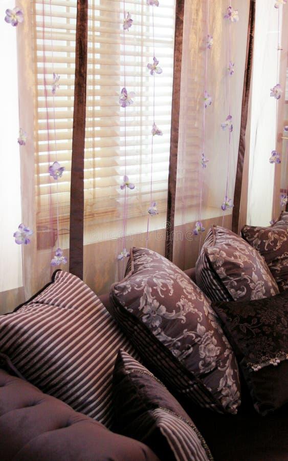Purple livingroom royalty free stock image