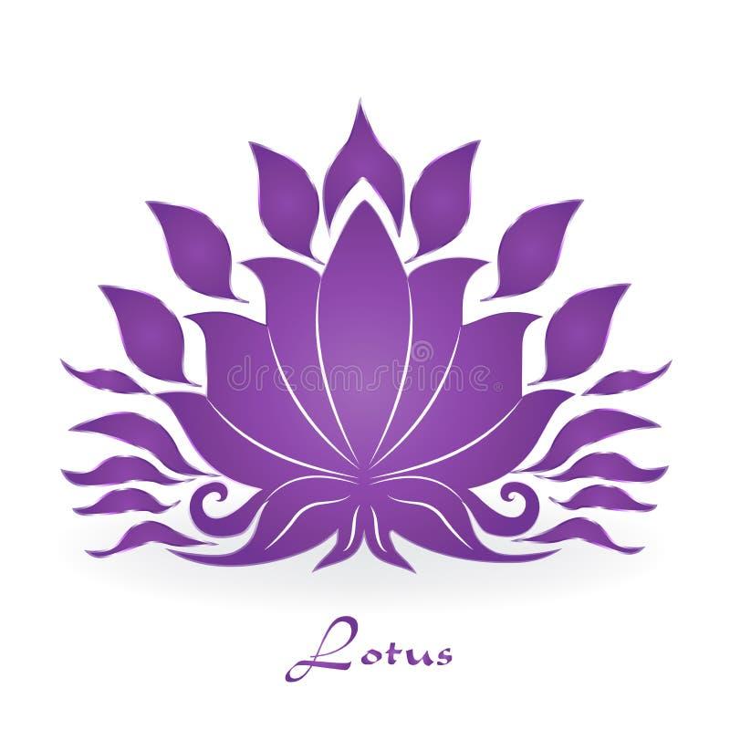 Download Purple Lotus Plant Zen Meditation Vector Icon Stock