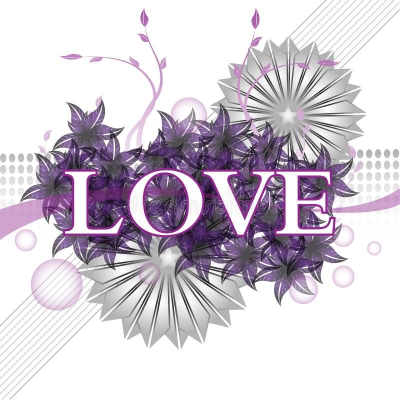 Purple love royalty free stock photo