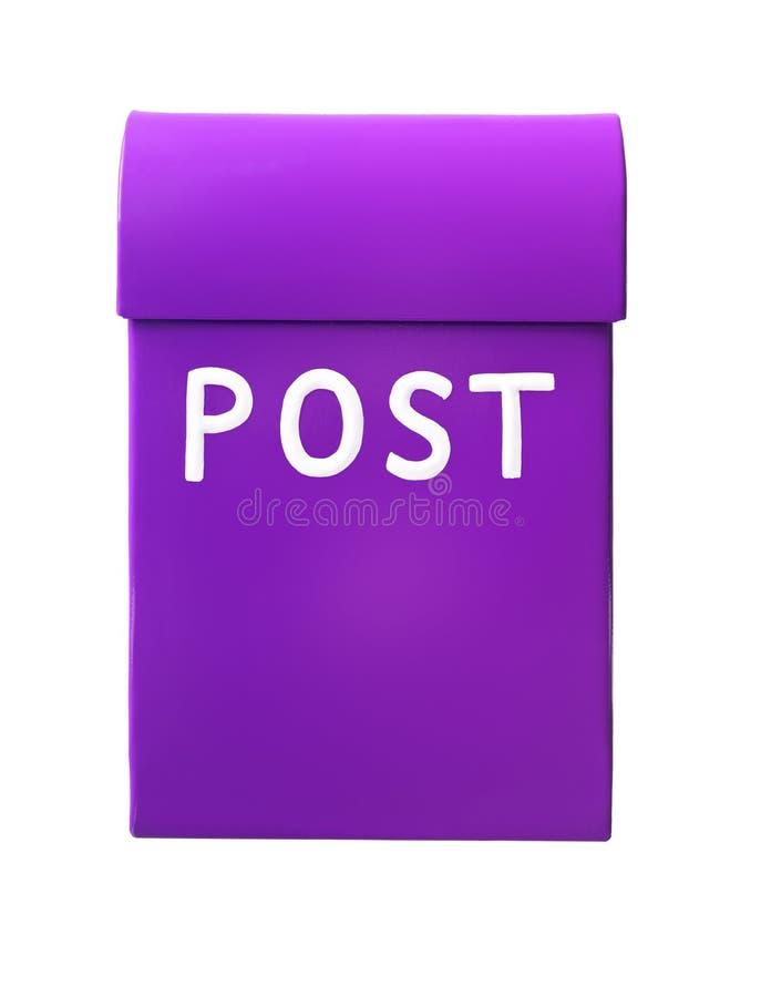 Purple mailbox royalty free stock photo