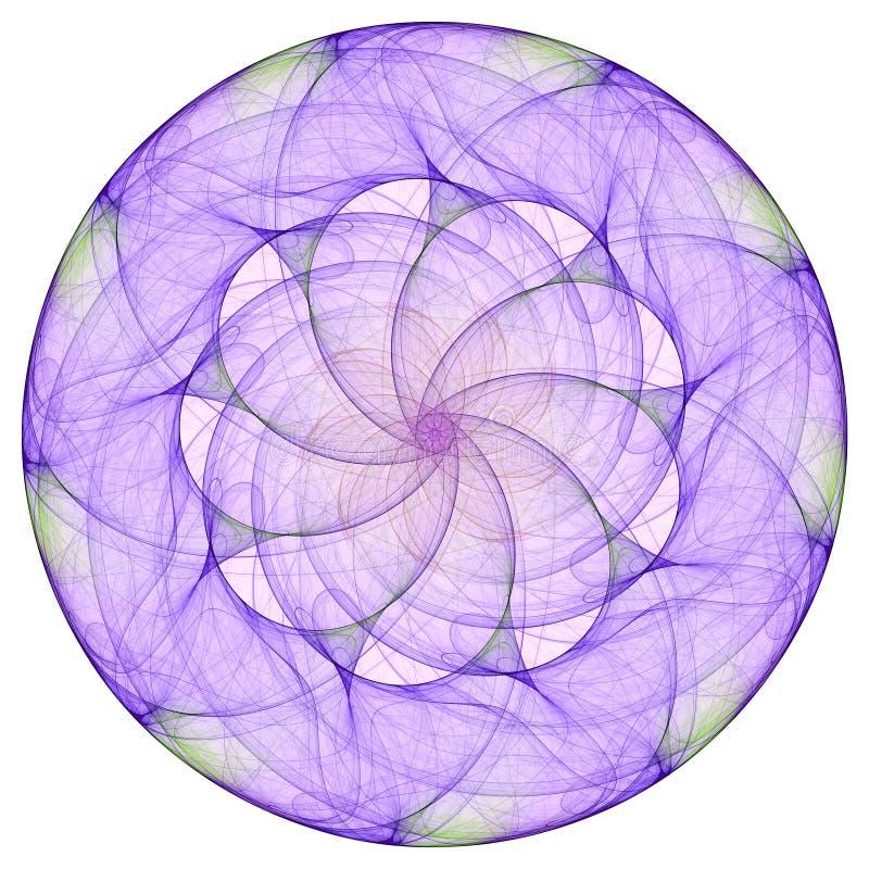 Purple mandala. For meditation on the white vector illustration