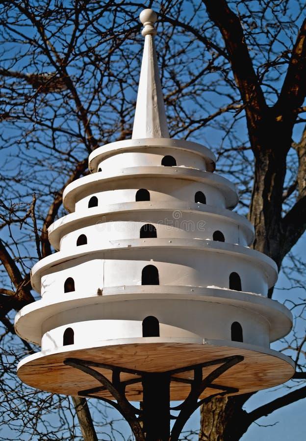 Purple martin bird house royalty free stock photos