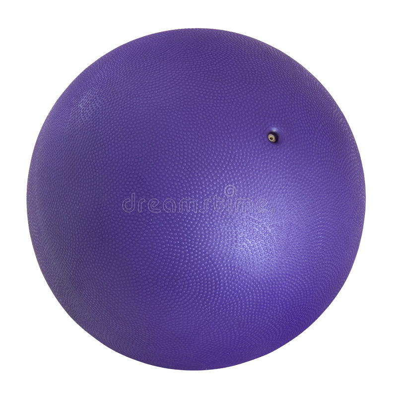 Purple medicine ball stock images