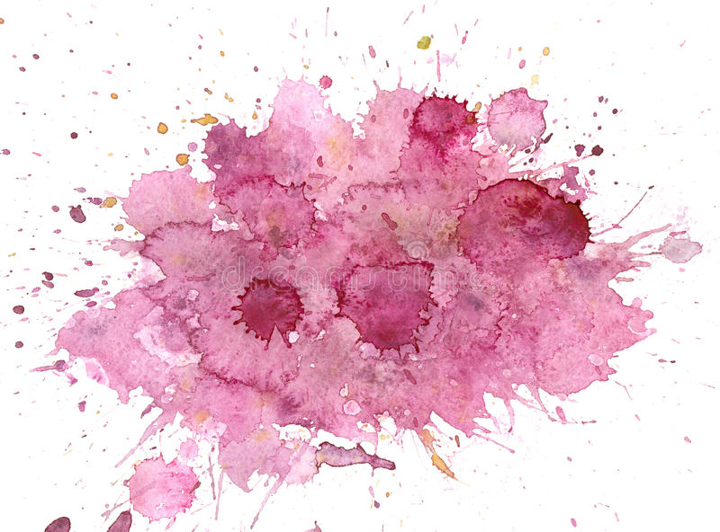 Purple messy spot. Watercolor background royalty free stock images