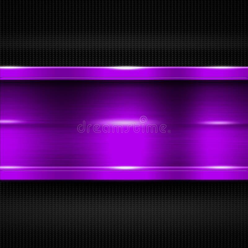 Free Purple Metal Banner On Black Carbon Fiber. Metal Background. Stock Images - 77466994