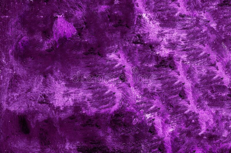 Purple metal plate artistically painted with strong purple, violet, pink colours colourful metallic surface texture background royalty free stock image