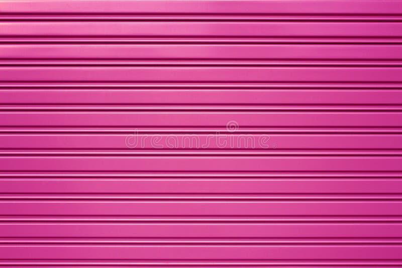 purple metal security roller door stock image