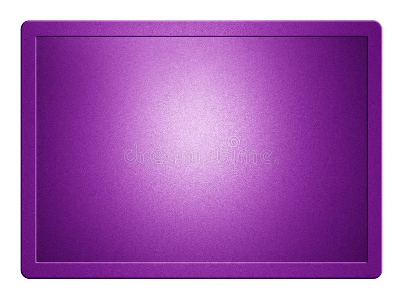 Purple Metallic Plate. With clippingpath for white background removal royalty free stock image