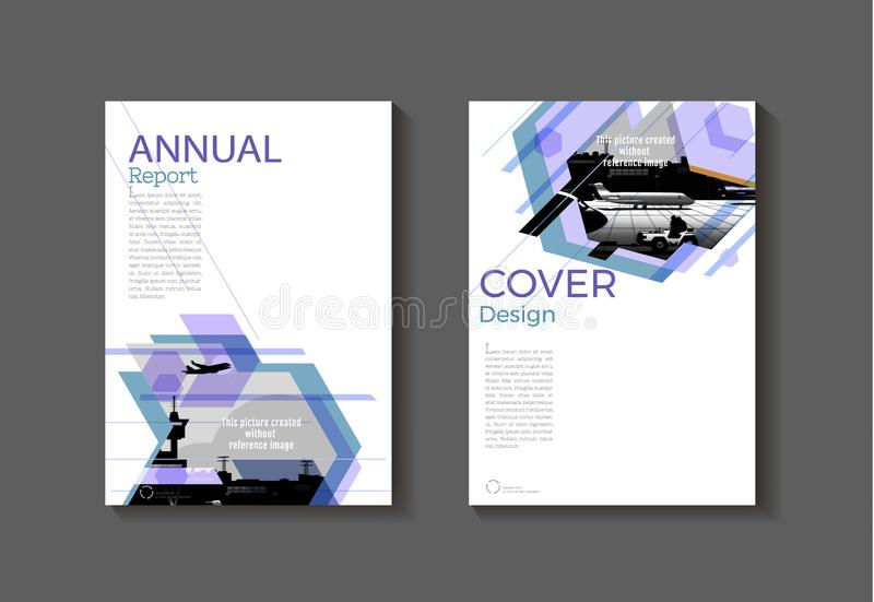 Purple Modern Abstract Cover Book Brochure Template Design Ann