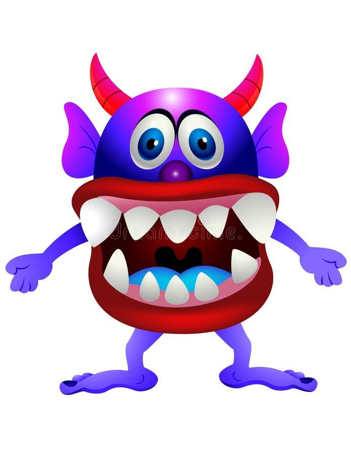 Download Purple  monster stock illustration. Image of mouth, horned - 24153832