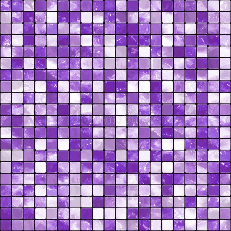 Purple Mosaic. Purple decorative mosaic pattern background royalty free illustration
