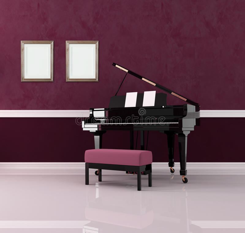 Download Purple music room stock illustration. Illustration of purple - 11787984