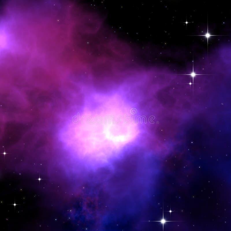 Purple nebula stock photography