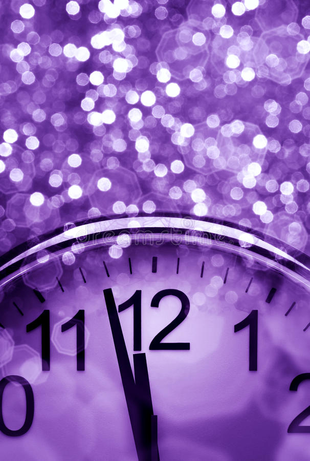 Purple New Year's abstract background stock photos