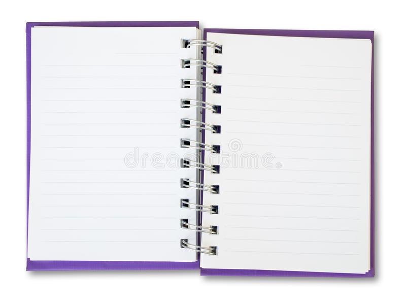 Purple Note Book stock images