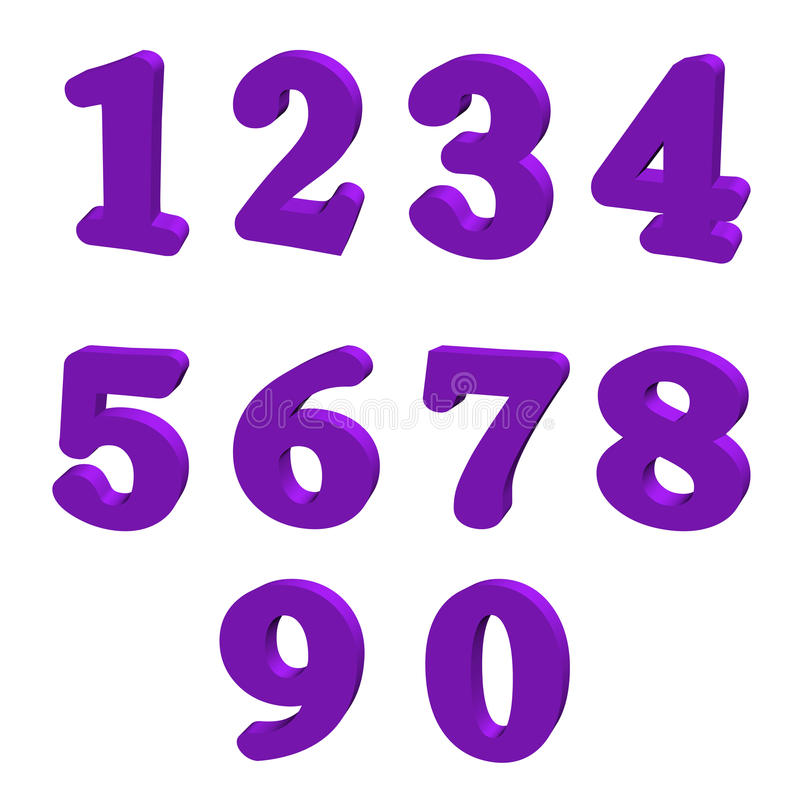 Purple numbers stock illustration illustration of eight for Number of pages in the color purple