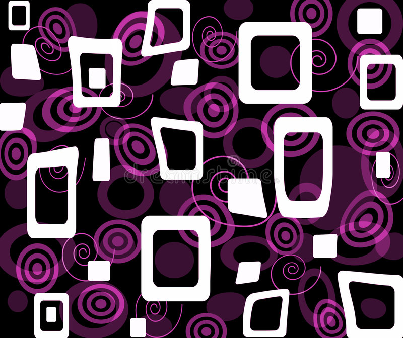 Purple op-art stock illustration