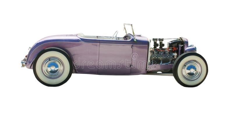 Purple open wheel hot-rod stock photos