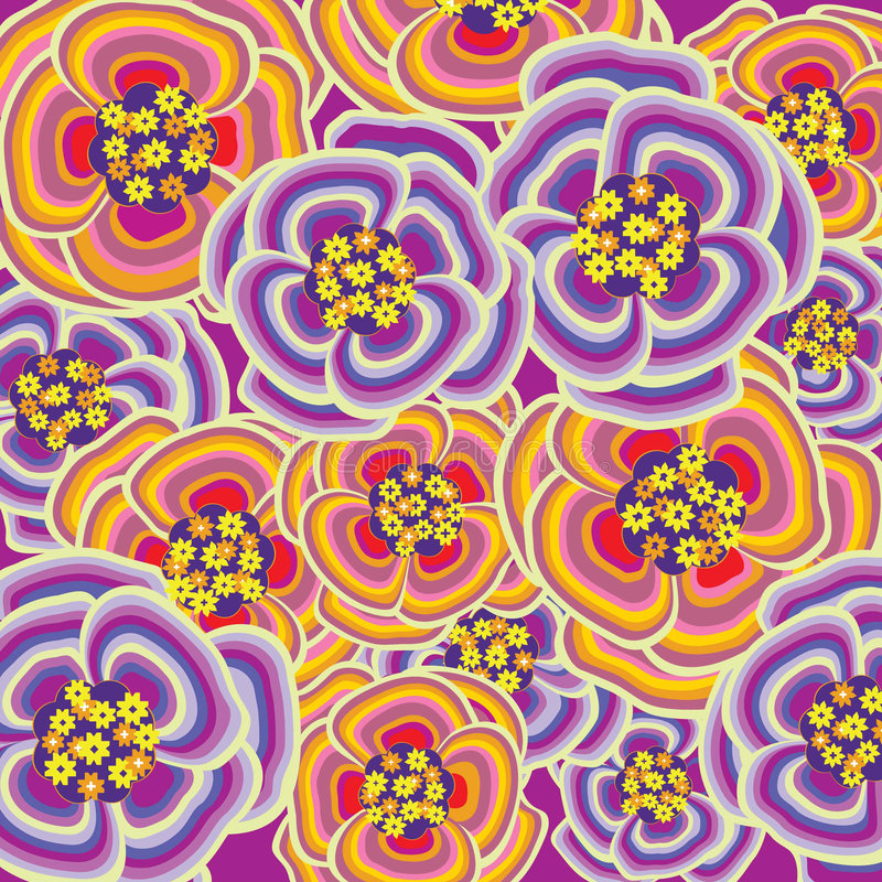 Purple And Orange Flower Burst Stock Images