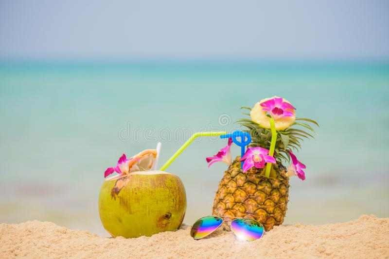 Summer fruit drink concept. stock image