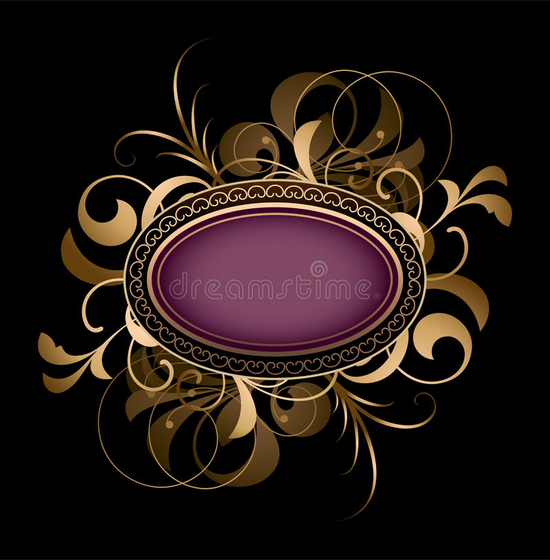 Download Purple Oval With Fancy Design Stock Vector - Illustration: 15390063