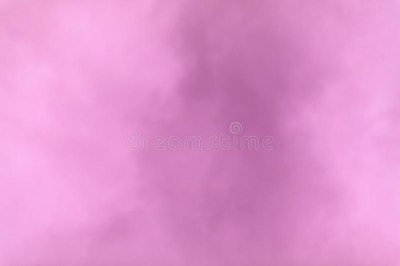 A purple overcast sky on a winter day at sunset. stock image