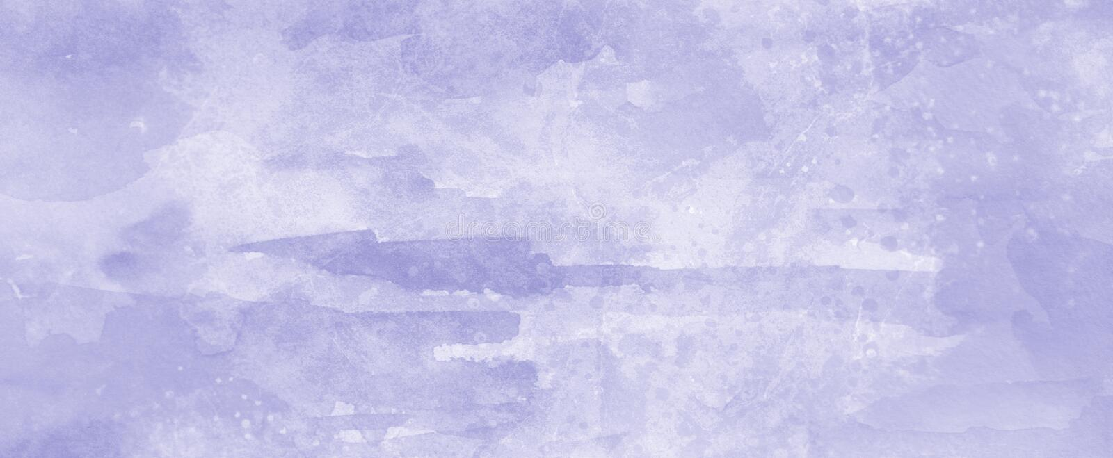 Purple paint background with soft watercolor wash and grainy paper texture in pastel light color background design stock photos