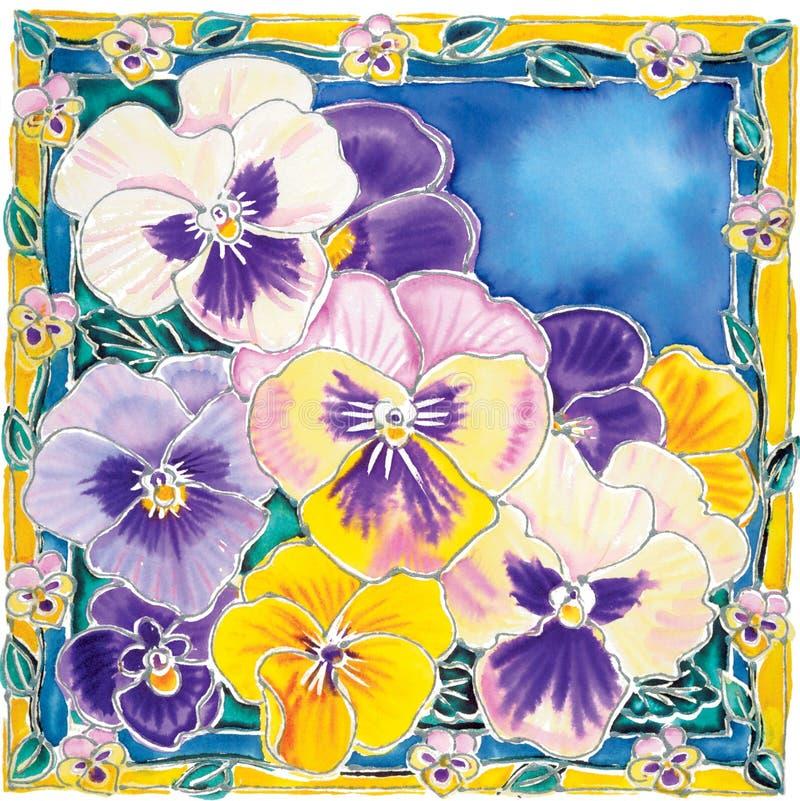 Purple pansies stock photos