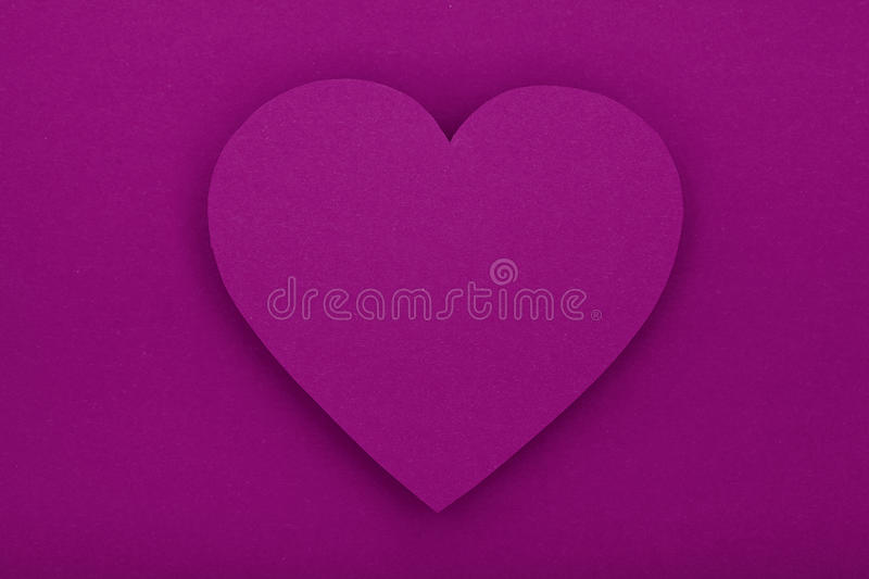 Download Purple Paper Heart With Shadow Stock Photo - Image: 28661968