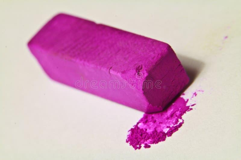 Purple pastel artists chalk. royalty free stock photos