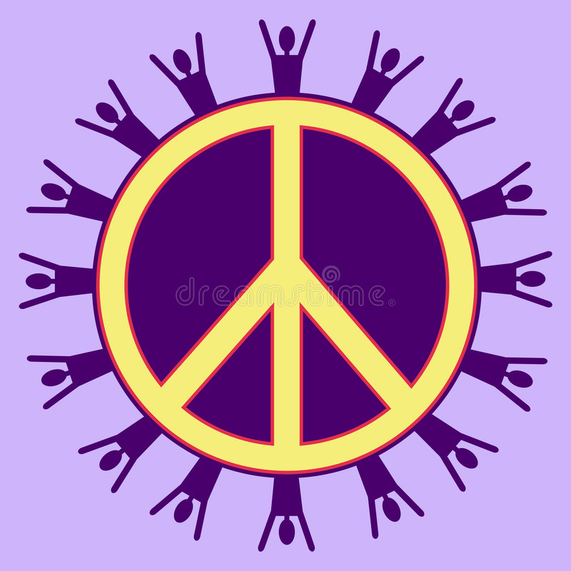 Download Purple Peaceful People stock illustration. Image of pacification - 5846410