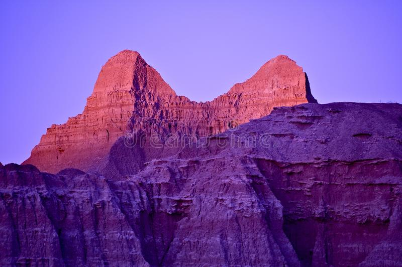Purple Peaks royalty free stock images