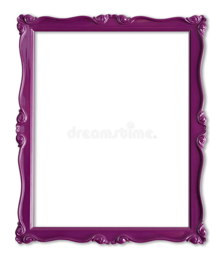 Purple picture frame royalty free stock photo