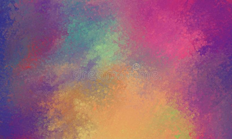 Purple pink blue orange and yellow background with glassy bokeh lights texture blur. Abstract pretty purple pink blue orange and yellow background with glassy royalty free illustration