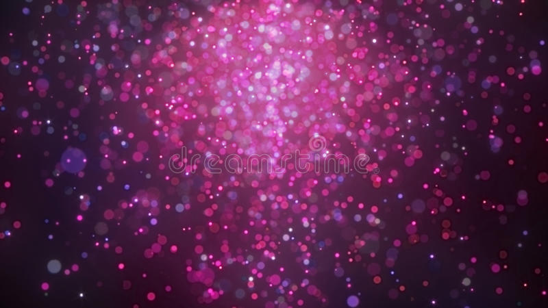 Purple and pink bokeh background lighting from top royalty free illustration