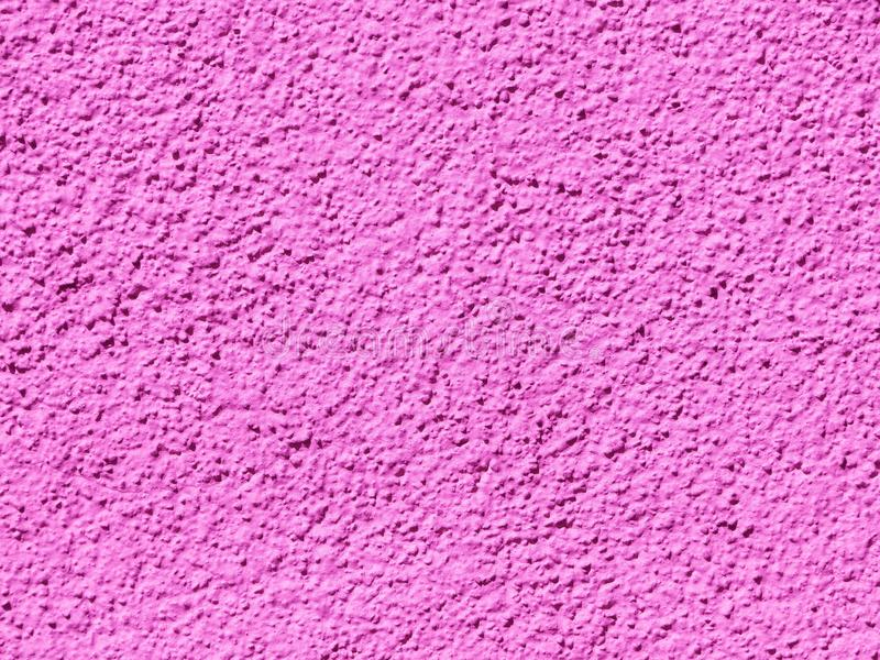 Purple Pink Texture Rough Cast Plaster. Abstract background rough colored plaster stock photography
