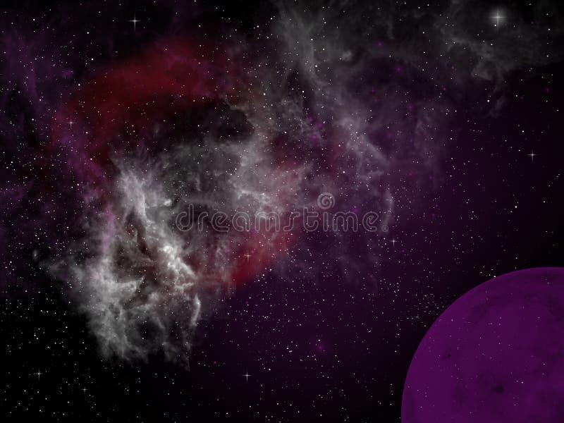 Purple Planet vector illustration