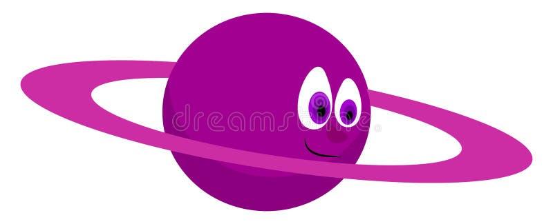 Purple planet, illustration, vector vector illustration