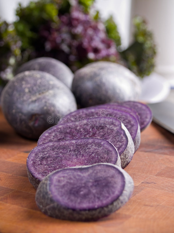 Download Purple potatoes stock image. Image of vegetables, whole - 7075399