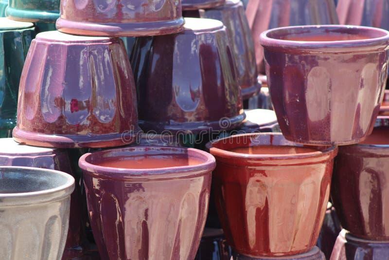 Purple Pots royalty free stock photos