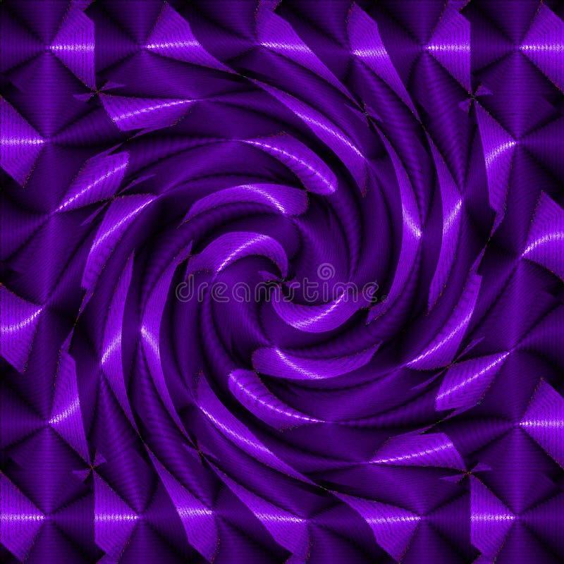 Purple psychedelic spiral. Fractal pattern background stock photo
