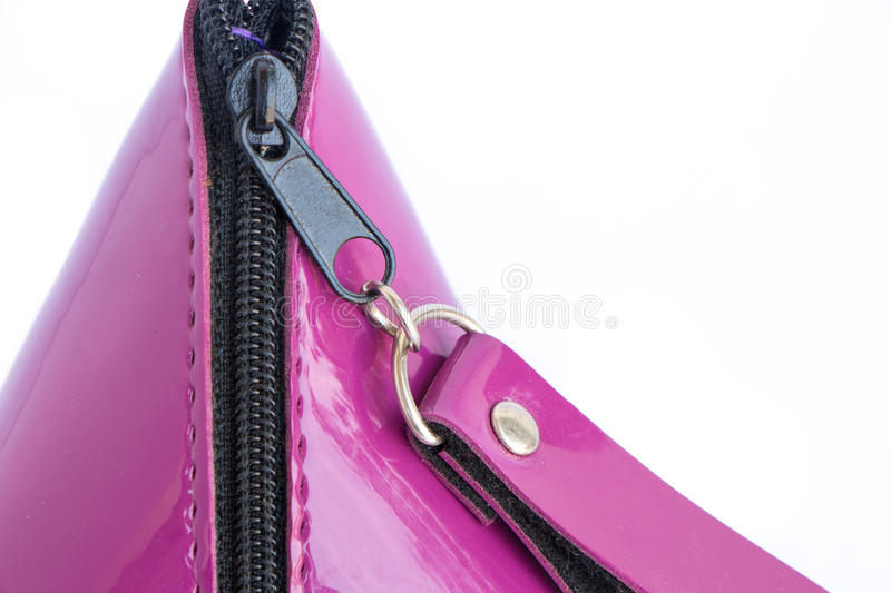 Purple purse isolated royalty free stock image