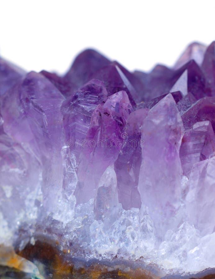 Purple quartz amethyst stock images