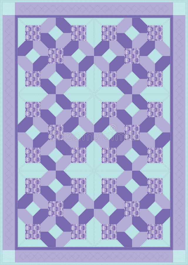 Download Purple Quilt stock vector. Image of quilting, pattern - 22301432