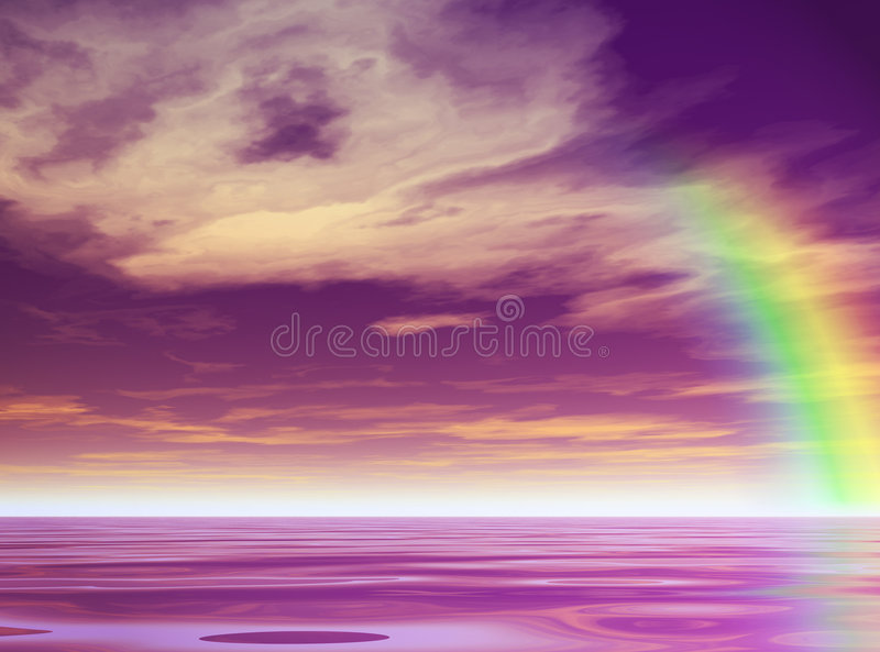 Download Purple Rainbow stock illustration. Image of blue, water - 1059756