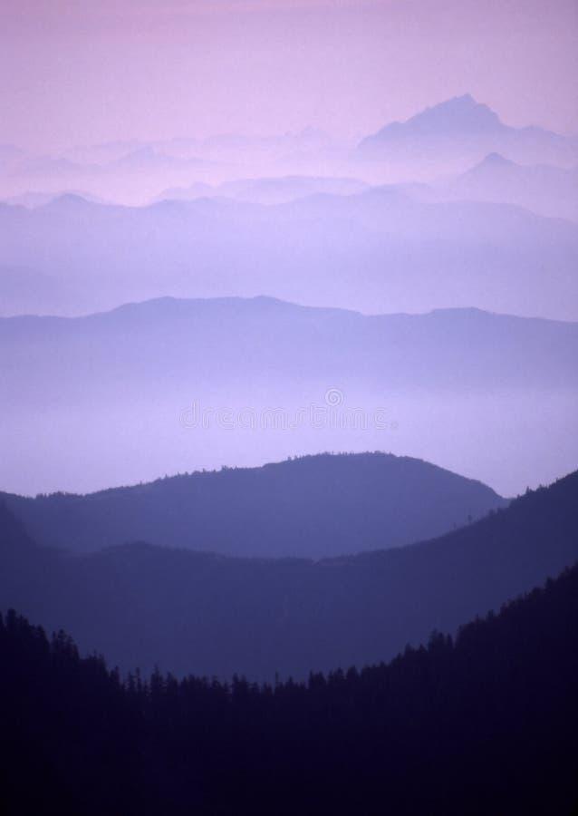 Purple Ranges Vertical royalty free stock photos