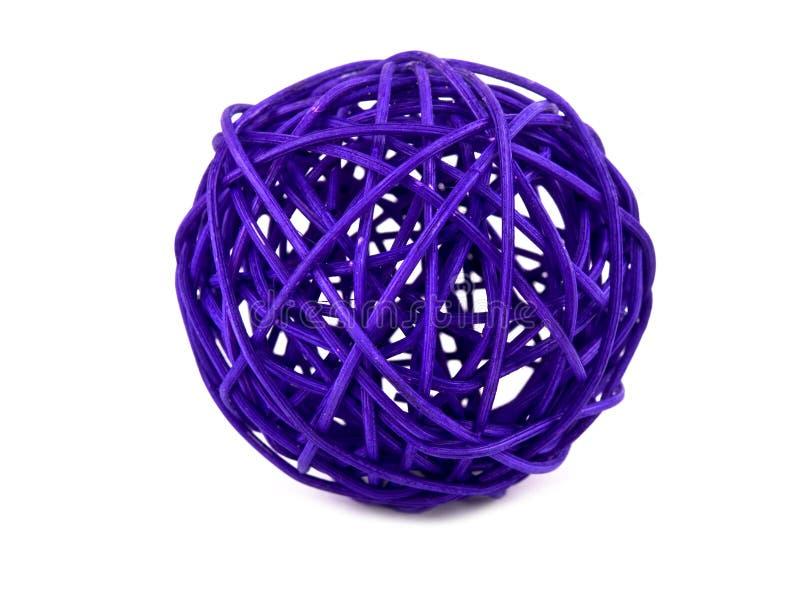 Download Purple Rattan Ball On White Stock Image - Image: 20560245