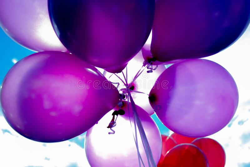 Purple And Red Balloons Free Public Domain Cc0 Image