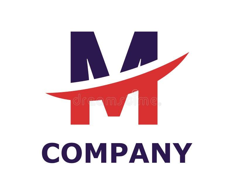Slice alphabet logo m. Purple and red color logo symbol slice type letter m by blade initial business logo design idea illustration shape for modern premium stock illustration